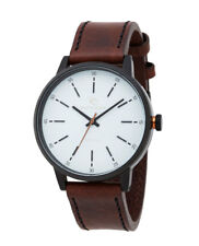 RIP CURL Mens DRAKE MIDNIGHT LEATHER WATCH WHITE Bronze RRP$199.99 NEW +Free Exp