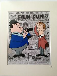Laurel & Hardy - Hand Drawn & Hand Painted Cel