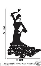 Spaish Dance girl Wall Art Decals
