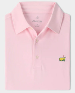 2021 Masters Tech Men's Performance Polo Golf Shirt Solid Light Pink ⛳️