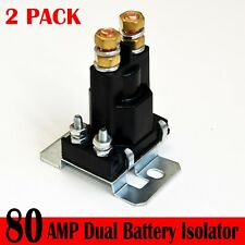 New listing 2 Pc Paka Tools , 80 Amp Battery Isolator And Relay W/ Universal 12V Application