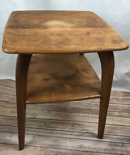 Mid Century 1950 Heywood Wakefield Wishbone Leg Side End Table 2 Tier MCM
