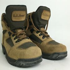 LL Bean Knife Edge Hiking Boots Womens Size 7 W Brown Leather Gore Tex Shoes
