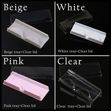 10PCS  Eyelash Packaging Box Empty Care Holder Makeup Rectangle Case Organizer