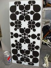 """IKEA GYLLEN WALL ART LIGHT BOX & MOD OP ART GLASS PANEL BLACK WHITE 22""""  X 10"""""""