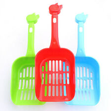 Poop Sand Scoop Sieve Cat Animal Pet Plastic Litter Tray Scooper Shovel Kitty Vh