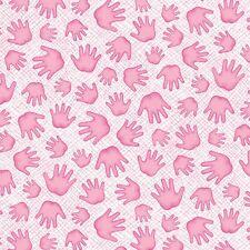 Benartex 100% cotton fabric A MIRACLE - Little Hands - pink