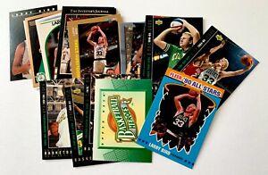 Larry Bird lot of 22, 1990 Fleer insert, 8 Heroes, oddball, NMMT, Boston Celtics