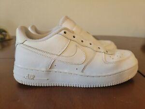 Nike Air Force 1 BG 314192-117 White Shoes Boys Size 5.5Y
