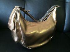 NAOR JACOBY Mini Shoulder Hand Bag Gold Bronze Leather  Vintage