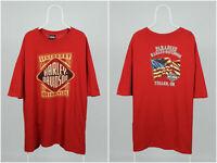 Mens Vintage 90s Harley-Davidson T-Shirt Big Logo Cotton Red Size XXXL / 3XL