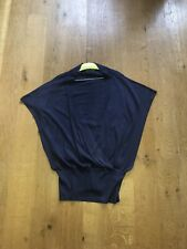 Mint Velvet Navy Knitted Top Size 18