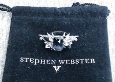 Stephen Webster Sterling Silver and Black Gemstone Ring Size 7