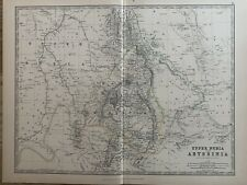 1886 ABYSSINIA ETHIOPIA & UPPER NUBIA ANTIQUE HAND COLOURED MAP BY JOHNSTON