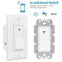 IFTTT Smart Home WiFi Wall Light Switch Alexa Google For IOS Android APP Control