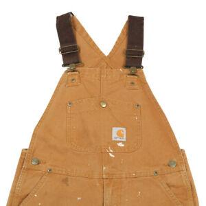 CARHARTT Canvas Dungarees | Small | Bib Workwear Overalls Duck