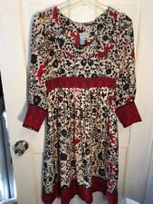 1f236345 Anthropologie Tracy Reese Folk Folkloric Animals Ethnic Dress 4