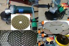 "Wet Polisher 4"" Premium DRY WET Polishing Pad DAMO Buff Granite Glass Concrete"