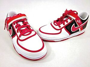 NIKE VANDAL LOW (GS) YOUTH BASKETBALL SHOES, CHOCOLATE-BERRY, US SIZE 6.5