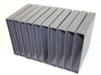 10 dunkelblaue Borek Schutzkassetten gebraucht