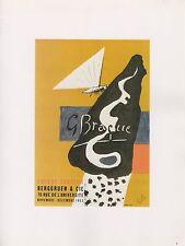 """1989 VINTAGE """"BRAQUE GRAVEUR"""" BERGGRUEN MOURLOT MINI POSTER COLOR Art Lithograph"""