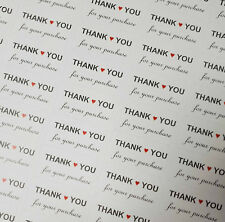 Thank You For Your Purchase / Order Rectangle Stickers Matte - 195 Labels