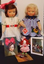 Haute Melton 19 inch CLOTH Dolls Ernestine Marien & Louise Silent Lou LimEd 250