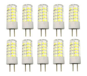 10pcs GY6.35 Led Light Bulb 5W 64-2835 SMD Lamp 110V/220V/12V Ceramics Light