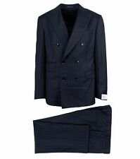 PAL Zileri Black Stripe Double Breasted Suit Size 54/44 R Drop 8