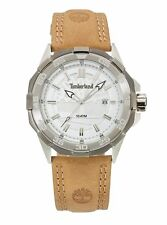 Timberland Men's Paugus Silver Dial Leather Strap Watch