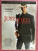 JUSTIFIED PRIMERA 1ª TEMPORADA COMPLETA SERIE TV 3 x DVD TIMOTHY OLYPHANT  AM