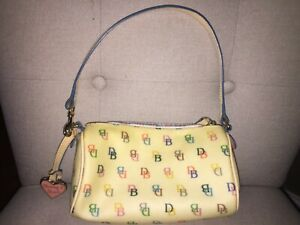 Dooney & Bourke Multi Color Logo Small Purse Handbag