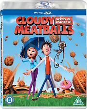 Cloudy With a Chance of Meatballs 3D Blu-Ray  BRAND NEW Free Ship