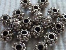 Spacer Rondell Perle silber Zwischenperle verziert Metall 6 mm Auswahl 1273