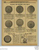 1929 PAPER AD 2 PG Wright & Ditson Reach Grand Slam Grey Goose Mesh Golf Balls