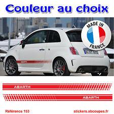 Stickers autocollant Bandes pour Abarth - Fiat 500 L XL - 155