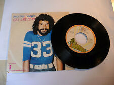 "CAT STEVENS"" TWO FINE PEOPLE-disco 45 giri ISLAND italy 1975"" PERFETTO"