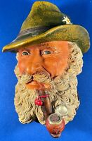 """1972 Vintage Tyrolean Chalkware Head By Bossons Congleton England. 6-1/2"""" x 4""""."""