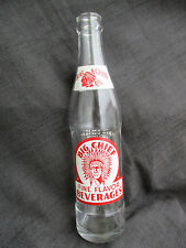 VINTAGE ACL BIG CHIEF BEVERAGES SODA WATER BOTTLE w INDIAN ADA OKLAHOMA OK