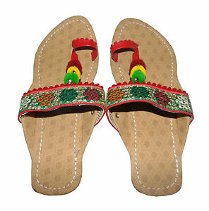 INDIAN SHOES WOMENS SANDALS ETHNIC SLIPPER PARTY CASUAL SLIPONS FLIPFLOP US SIZE