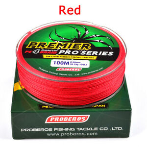 100M 4 Strands Braided Spectra Extreme PE Dyneema Strong Color Fishing Line Box