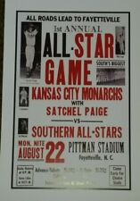 Negro League Baseball All Star Game Poster - Satchel Paige  Kansas City Monarchs