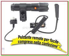 Torcia Tattica Militare Caccia CFG Led Pulsante Remoto e Laser + 3 Duracell AAA