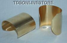 "Brass Bracelet Cuff Blanks Extra Wide 2.5"" Pkg Of 2"