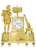TROUBADOUR. Kaminuhr Empire clock bronze horloge antique pendule uhren