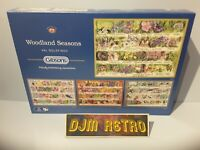 GIBSONS...WOODLAND SEASONS BY VAL GOLDFINCH. 4 X 500 PIECE JIGSAW PUZZLES VGC
