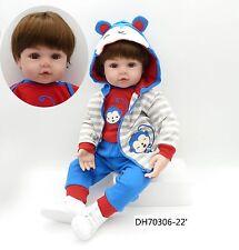 "22"" Real Lifelike Newborn Doll Silicone Reborn Baby Dolls Toddler Boy Xmas Gift"