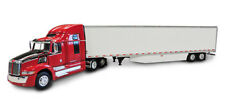 1/64 DCP RED WESTERN STAR 5700EX W/ 53' UTILITY SKIRTED DRY VAN TRAILER