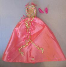 Mattel Birthday Party 1998 Barbie Dress Pink/Green Ribbon Ball Gown-Shoes Fancy!