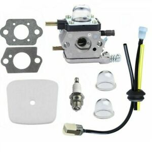 UK Carburetor with Fuel Filter Maintenance Kit Spark Plug for Zama Mantis Tiller